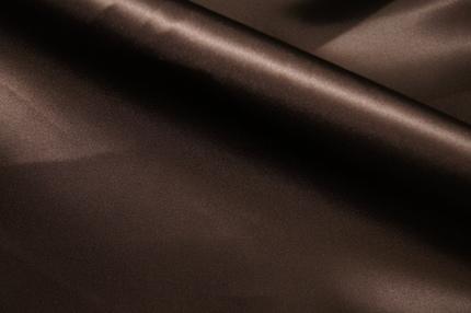 Атлас шелковый коричневый