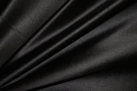 Атлас корсетный (дюшес)шелковый черный