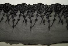 Тесьма с вышивкой на сетке