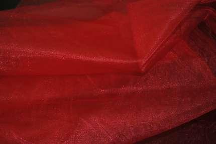 Сетка (фатин) жёсткая красная