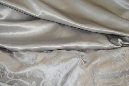 Атлас шелковый серый(280 см)