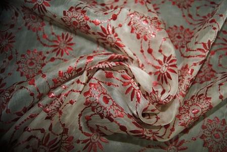 Органза шелковая с вышивкой