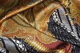 Атлас шелковый набивной с эластаном (стрейч)