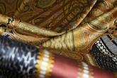 Атлас шелковый набивной с эластаном(стрейч)