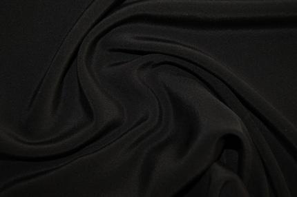 Крепдешин шелковый черный
