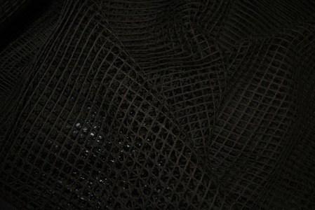 Сетка театральная хлопковая черная  1 см*1 см