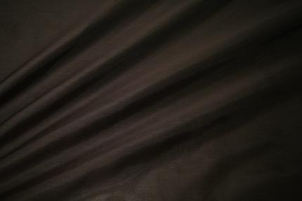 Органза шелковая коричневая