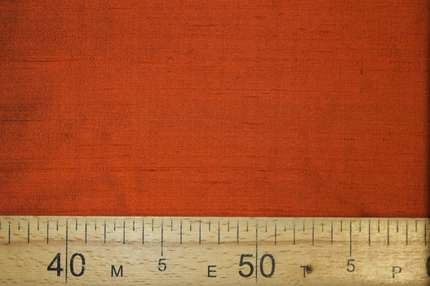 Дикий шелк дюпион (шантунг) оранжевый