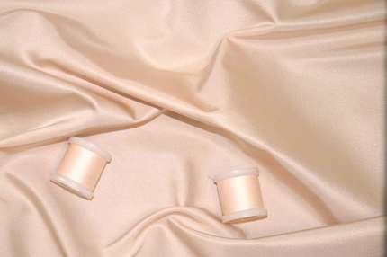 Атлас шелковый корсетный дюшес пудровый