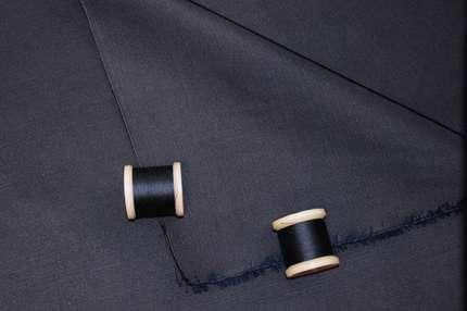 Атлас шелковый корсетный дюшес темно-синий