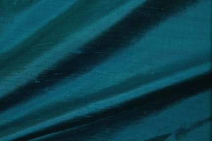 Дикий шелк дюпион (шантунг) тёмно-бирюзовый