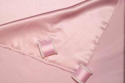 Атлас шелковый розовый