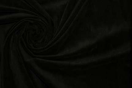 Бархат хлопковый черный стрейч