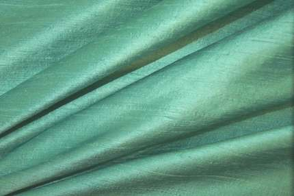 Дикий шелк дюпион (шантунг) бирюзовый