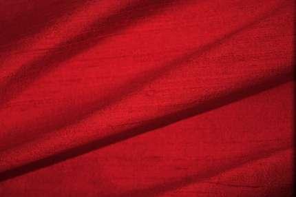 Дикий шелк дюпион (шантунг) красный