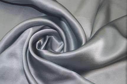 Атлас шелковый пыльный голубой
