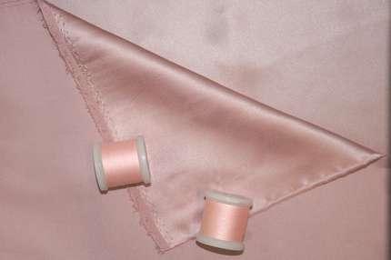 Атлас шелковый розовый лотос