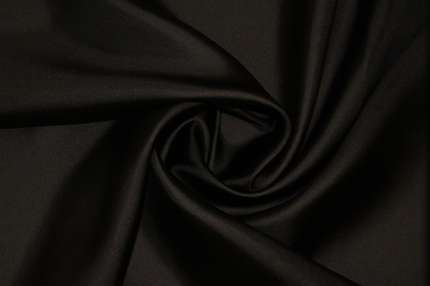 Саржа шелковая (твилл) черная