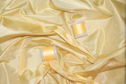 Тафта шелковая жёлтая