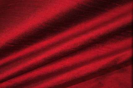 Дикий шелк дюпион (шантунг) бордовый хамелеон