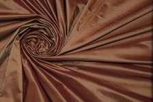 Тафта шелковая бордово-коричневая
