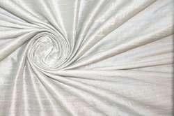 Дикий шёлк дюпион (шантунг) дымчато-белый