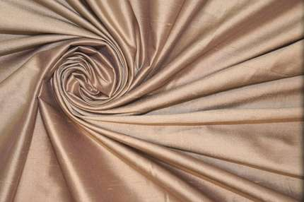 Дикий шёлк дюпион (шантунг) бежево-розовый