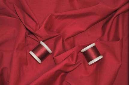 Плательно-блузочный шелк с хлопком малиновый