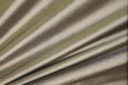 Дикий шёлк дюпион (шантунг) серо-оливковый