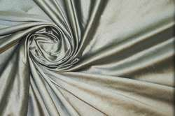 Дикий шелк дюпион (шантунг) оливковый металлик