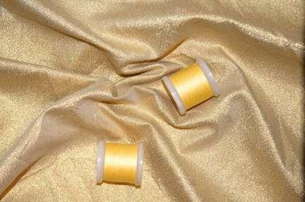 Парча хлопковая золотая