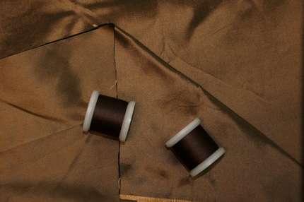 Тафта шелковая коричневая