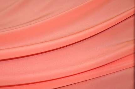 Крепдешин шелковый светло-коралловый