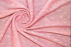 Трикотаж розовый меланж