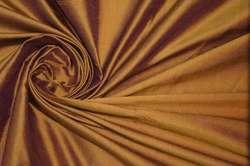 Дикий шелк дюпион (шантунг) медно-бордовый
