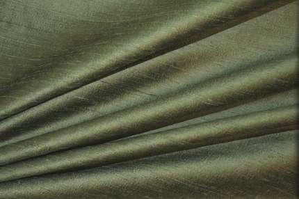 Дикий шелк дюпион (шантунг) зелёный