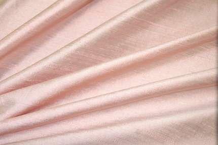 Дикий шелк дюпион (шантунг) нежно-розовый