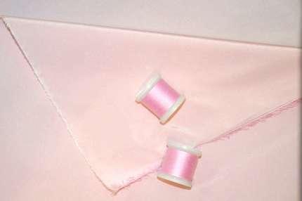 Тафта шелковая нежно-розовая