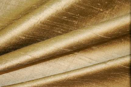Дикий шелк дюпион (шантунг) золотистый