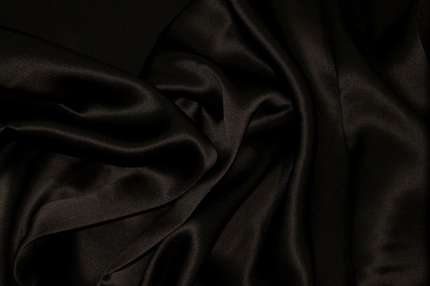 Атлас шелковый черный