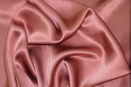 Атлас шелковый пепельно-розовый