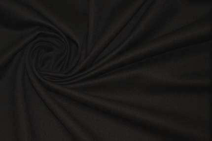 Шерсть плательно-костюмная черно-синяя