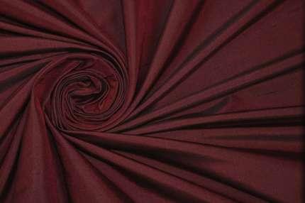 Дикий шелк дюпион (шантунг) бордовый