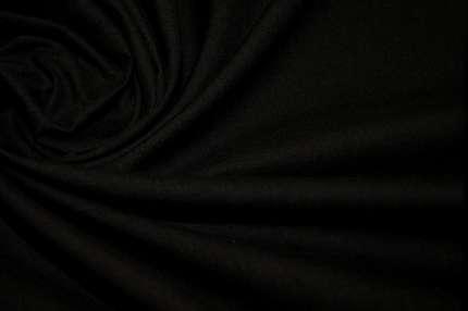 Батист хлопковый черный