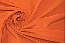 Крепдешин шёлковый оранжевый