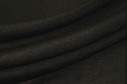 Дикий шелк шантунг чёрно-серый