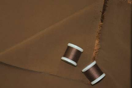 Купра вискозная коричневая