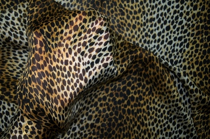"""Муслин шелковый набивной """"леопард"""""""
