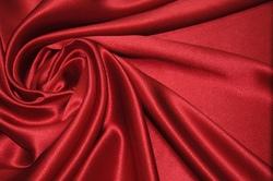 Атлас шелковый фактурный красный