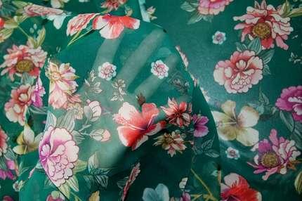 """Шифон шелковый """"цветы"""""""